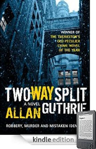Two-Way Split, Allan Guthrie blue